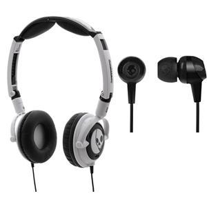 Skullcandy Lowrider Headphones White & Black and Skullcandy In Ear Earphones Double Pack - £16.99 Delivered @ Play