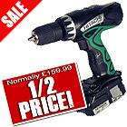 Hitach 18V Lithium-ion Hammer Drill/Driver with 2 x Li-ion batteries  - £79.99 + vat @ ITS