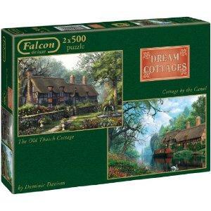 Falcon De Luxe - Cottages Collection - Dream Cottages 2 x 500 Piece Jigsaw Puzzles in a Box £2.60 del @ Amazon