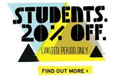 TOPMAN 20% off for students online/instore and many lines 30% off