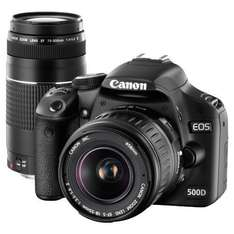 Canon EOS 500D + 18-55mm + 75-300mm Twin Lens Kit DSLR. £579.95 instore and on-line @ Jessops