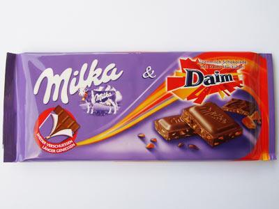 Milka Daim, Happy Cows and Milk Chocolate 100g bars down to 50p at Asda