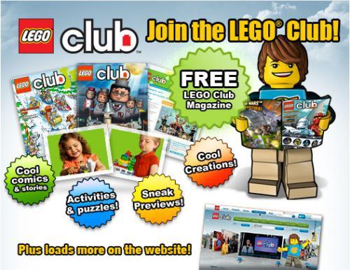 Free Max minifigure & free lego club magazine at argos online