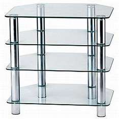 Camden Metal and Clear Glass Small Entertainment Unit (3.95 delivery) @ Sainsburys £28