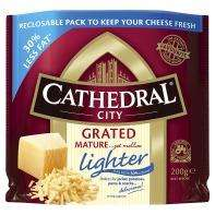 Cathedral City Mature Lighter Grated Cheddar (200g) £1 @ Asda