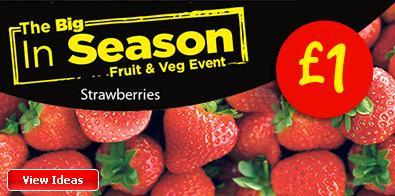 Seasonal summer fruits £1 including cherries,raspberries and strawberries @ ASDA