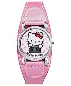 Hello Kitty Girls Pink Cuff Strap Watch £4.99 @Argos