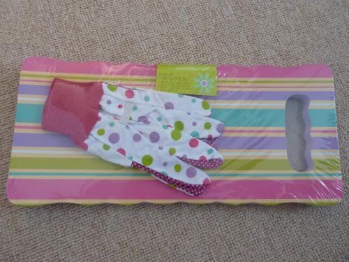 Ladies garden kneeler and glove set reduced to 30p - Tesco instore