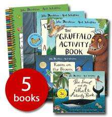 Back in stock - 5 Activity books by Julia Donaldson & Axel Scheffler, i.e the Gruffalo. £19.99 now £4.99 @ The Book People 74% off RRP