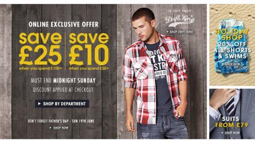 Save £25 off £100 & £10 off £50 spend @ Burton.co.uk