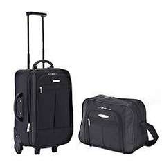 Constellation 2-piece 18'' Trolley with Flight Bag - Black with 3 year guarantee£17.49 at Sainsburys