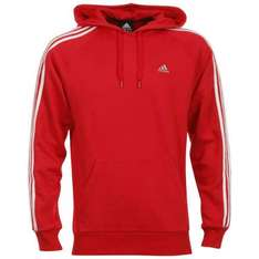 EXPIRED.As price has now increased.Adidas Essentials 3 Stripe  Hooded Top - Red  @ The Hut. Delivered Free. rrp £45.00.