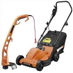 Worx Mower and Trimmer Twin Pack £59 @ B&Q (Upto 4% Cashback  Quidco)