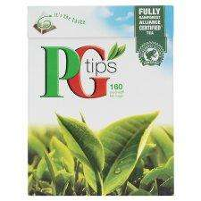PG Tips Pyramid Tea Bags (160 per pack - 500g)  2 FOR £5 @ Tesco
