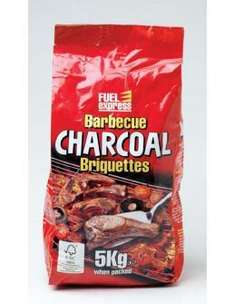 Fuel Express 5kg BBQ Charcoal Briquettes - £5 each, 2 for £6 at Tesco