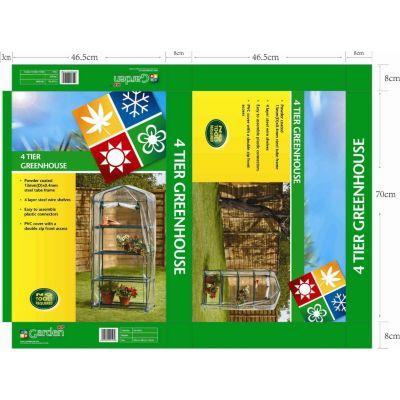 Asda 4 Tier Plastic Greenhouse down to £6 @ Asda