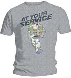 BUZZ LIGHTYEAR - AT YOUR SERVICE MENS GREY T-SHIRT - £4.99 Delivered @ Argos/ Ebay