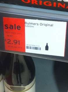 4 x 500ml Cans of Bulmers Cider @ Sainsburys