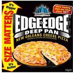 Chicago Town Frozen Edge to Edge Miami Meaty or New Orleans Cheese Pizza's was £2.99 now £0.75 @sainsburys