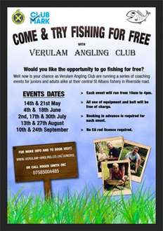Free Fishing and Coaching For Juniors (St Albans Hertfordshire)