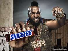 Snickers bars 16p down from 65p @ Esso garage's