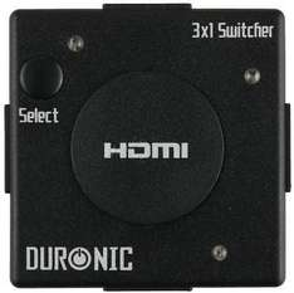 Duronic Mini 3 Port Gold HDMI Auto Switch 3x1 - £9.99 (75% off!) @ Amazon (via DURONIC)