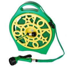 Only  £12.99. Garden 50 Feet Flat Hose with Reel & 7 Spray Settings @ Ocean treetrading on ebay. Free Delivery