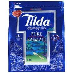 Tilda Pure Basmati Rice 5 kg only £7.99@amazon uk free delivery