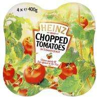 Heinz chopped tomatoes, 4 for £1 at Asda,INSTORE ONLY. Marked reduced to clear, dated 2012. from £3.68 on label, £2 online