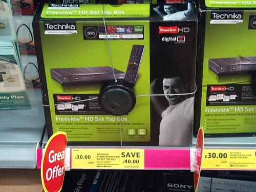 cheap technika freeview HD box non pvr type   £30 @ Tesco