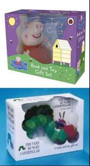 Infant board book & toy gift sets rrp £10.99 now £4.00 each in Tesco stores - Peppa Pig, Spot & Hungry Caterpillar