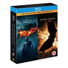 The Dark Knight / Batman Begins Double Pack (3 Disc) (Blu-ray) - £13.49 Delivered @ Amazon & HMV