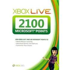 2100 Xbox Points for £14.99 @ PLay