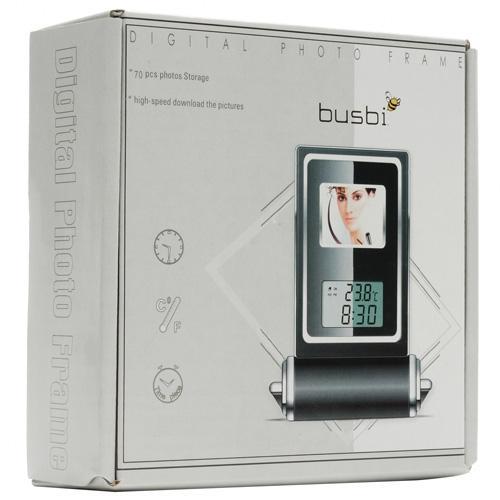 "Busbi Travel alarm clock with 1.4"" Photo Frame  £4.79 @ Misco"