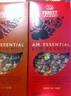 Forest Feast granola, 375g Roasted nuts & Red Berries 49p!!! @ Tesco (Instore)