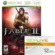 Xbox Live 12-Month Gold Credit & Fable II (Full Game) - £39.58 @scan.co.uk delivered