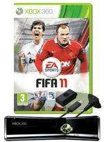 Xbox 360 250GB with FIFA 11 and black GAMEWare play and charge kit - at GAME £169.99