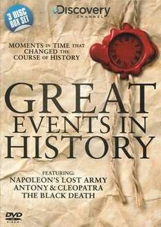 Great Events in History DVD Boxset £2.99 @ The Works (instore & online [1.75 post])