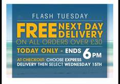 Free Next Day Delivery on all orders over £30 - ends at 6pm today! @ BURTON