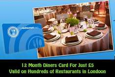 £5 for a 12-month subscription to My Restaurant Card @ KGB deals