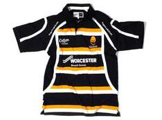 rrp £44.99. Worcester Warriors 2010/12 S/S Home Rugby Shirt Navy/White/Gold only £12.99  +  £2.99 delivery @  Lovell Rugby