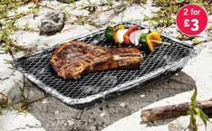 Disposable Barbecue (with charcoal and lighting paper & metal stand) 2 for £3 at Lidl