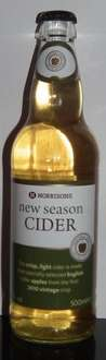 Morrisons New Season Cider - made by Westons 500ml for £1