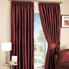 Ruby Blend of Silk Curtains from £18.99 @ Dunelm Mill