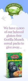 Free Pack Natures Path Gorilla Cereal to give away - FACEBOOK FREEBIE