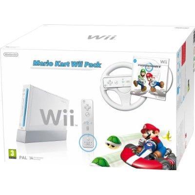 Nintendo Wii Console (White) with Mario Kart and White Wii Wheel + Wii Remote Plus Controller £99.99 @ Amazon