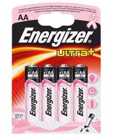 Argos 4pk Pink Energizer ultra + Batteries only £1.49