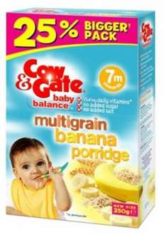 Cow & Gate Multigrain banana Porridge (big box 250g) half price for £1.25 in Boots stores