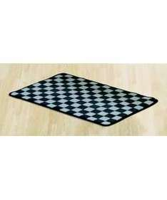Chequered Flag Rug £3.24 at Argos