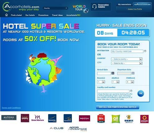 Accor Hotels - Novotel, ibis, Mercure, Etap etc. 50% off nearly 1000 hotels worldwide inc' uk
